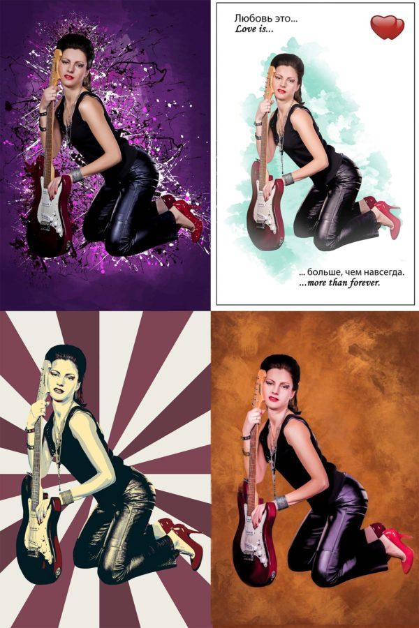 Цветные портреты на холсте Дрим-Арт